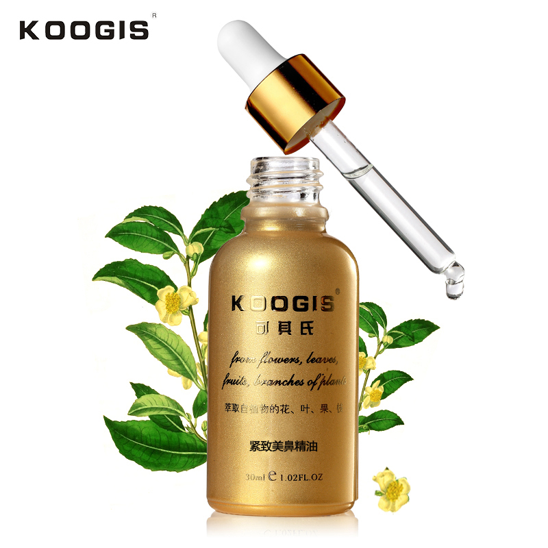KOOGIS 30ml Nose Tighting Nose Essential Oils Reduce Narrow Thin Nose Lift Up Cream No Surgery Powerful Nosal Bone Remodeling
