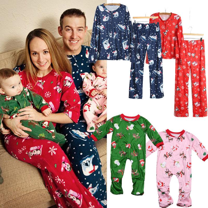 HIRIGIN Hot Winter Famlily Clothes Christmas Matching Pajamas Set Adults  Kids Family Pajama Sets Print Deer Nightwear Sleepwear 91325a899