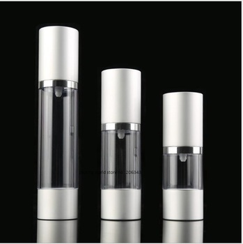 30ML matte silver airless bottle for lotion/emulsion/serum/liquid foundation/whitening essence/recovery complex packing
