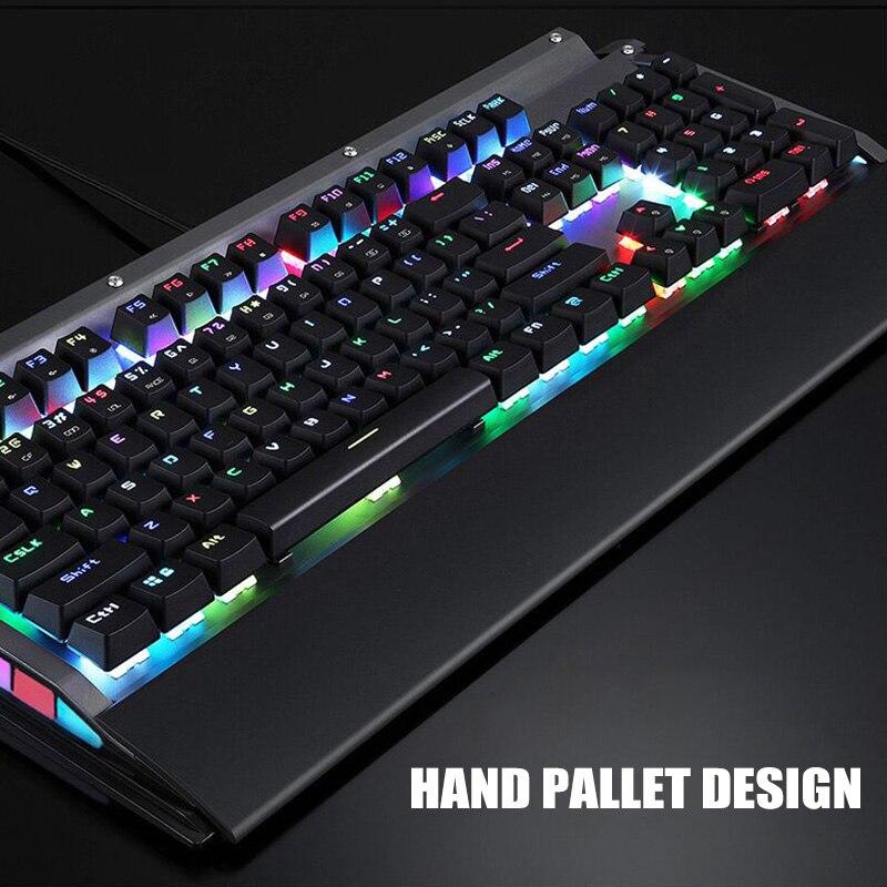 RGB clavier mécanique 104 touches USB 2.0 Kailh boîte commutateur filaire vitesse de réponse rapide nk-shopping