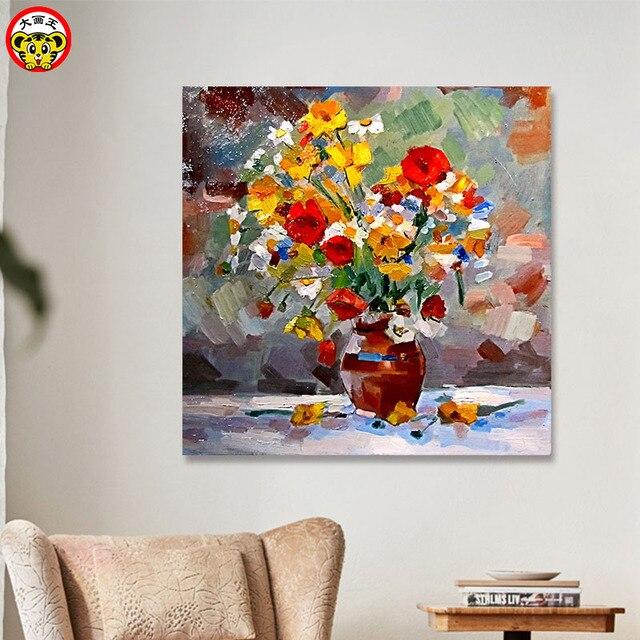 Schilderen door numbers art verf door nummer DIY digitale schilderen Europese olieverf bloem plant bloem schilderen vullen kleur livin