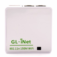 GL. iNet 6416 AR9331 802.11n 150 Mbps Wireless Mini WiFi Router OPENWRT Firmware Wi Fi Repeater Du Lịch Router 16 MB Flash/64 MB RAM