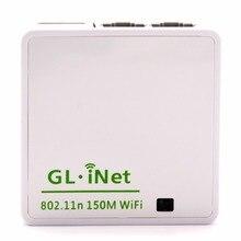 GL.iNet 6416 AR9331 802.11n 150 Мбит/с мини беспроводной Wi Fi роутер, прошивка OPENWRT Wi Fi ретранслятор, дорожный роутер 16 Мб Flash/64 МБ RAM
