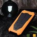 Woweinew 14000 mAh Edição Especial de Energia Solar Carregador de Bateria Externa Pacote Power Bank com luz led atacado