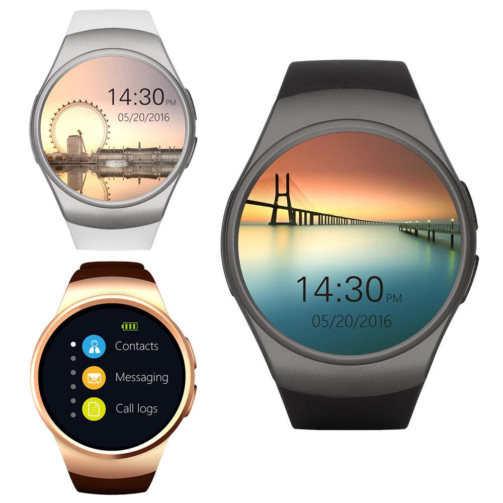 New SunKinFo KW19 Bluetooth Smart Watch Phone Full Screen Support SIM TF Card Smartwatch Heart Rate for Apple IOS Huawei Android