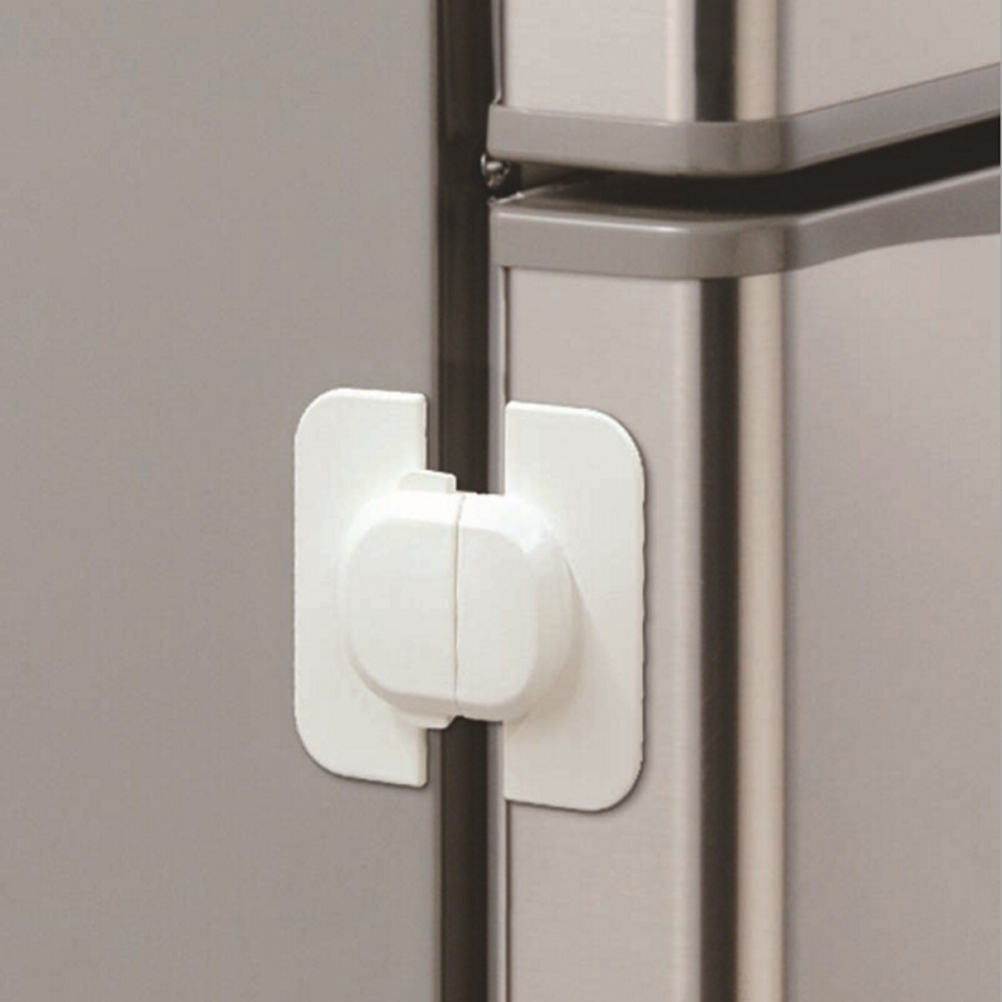 Hearty 1pc Baby Double Snap Multifunction Right Angle Lock 90 Degree Wardrobe Lock For Childrens Safety Kids Care Whole Sale Easy To Use Cabinet Locks & Straps