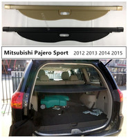 Car Rear Trunk Security Shield Cargo Cover For Mitsubishi Pajero Sport 2012 2013 2014 2015 High Qualit Auto Accessories