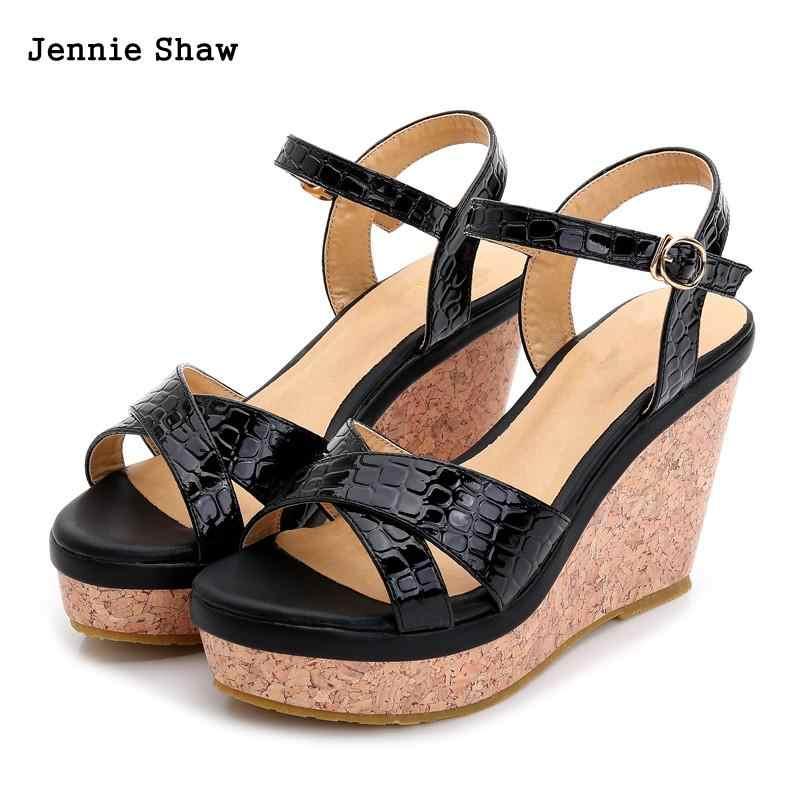 5795d7f2 Sandalias de tacón alto zapatos mujer wedge plataforma sandalias verano