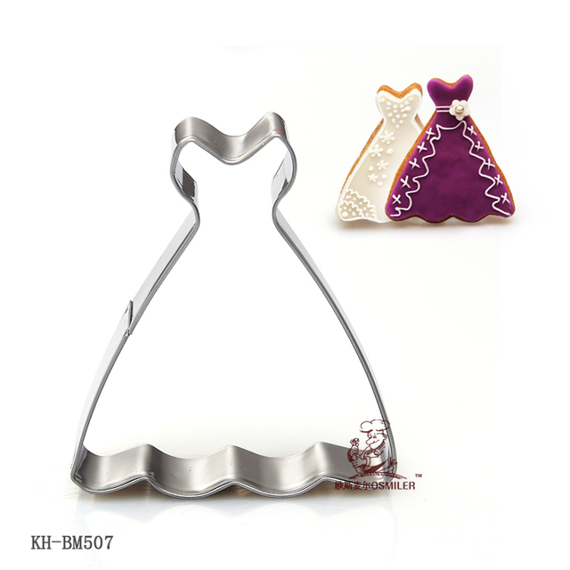 Princess Dress Cookie Cutter Stainless Steel Cutters Bakeing Tools Biscuit Fruit Fondant Mold A100