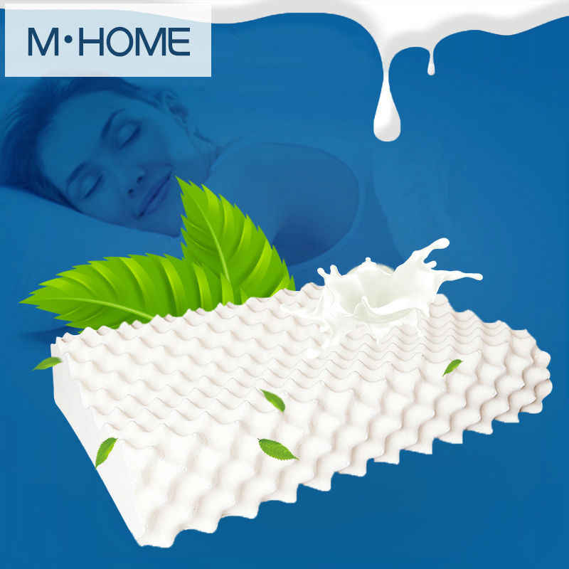 New Thailand Imports 100% Natural Latex Pillow Orthopedic Neck Pillow Cervical Health Care Orthopedic Latex Pillow 60x40x12x10cm