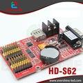 S62 HD-S62 utilizado indoor e outdoor led farmácia cruz canta suporta u-disco e RS232 porta serial levou exibição de tela controlador de cartão