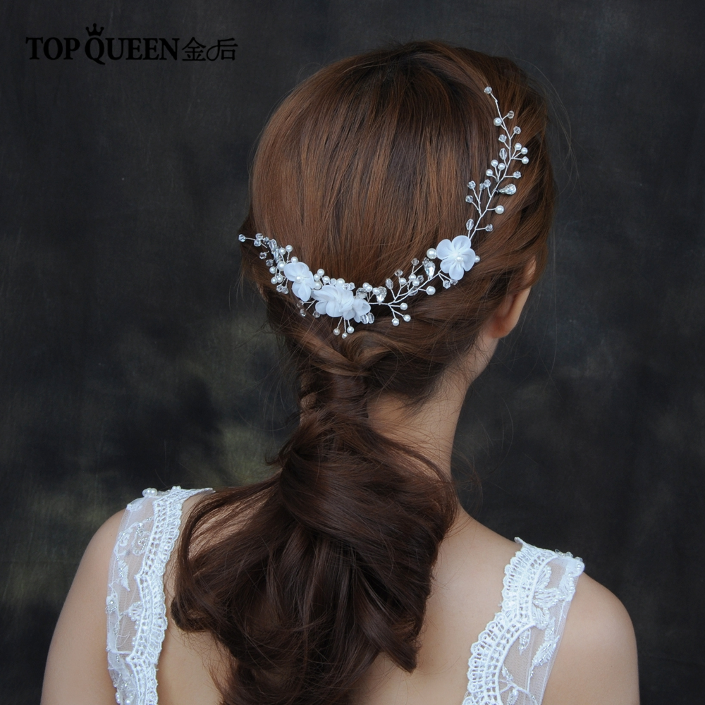 TOPQUEEN HP109 Bridal Hair Comb Bride Hair Ornaments For Women Bridal Hair Accessories Crystal Hair Jewelry Wedding Headpieces