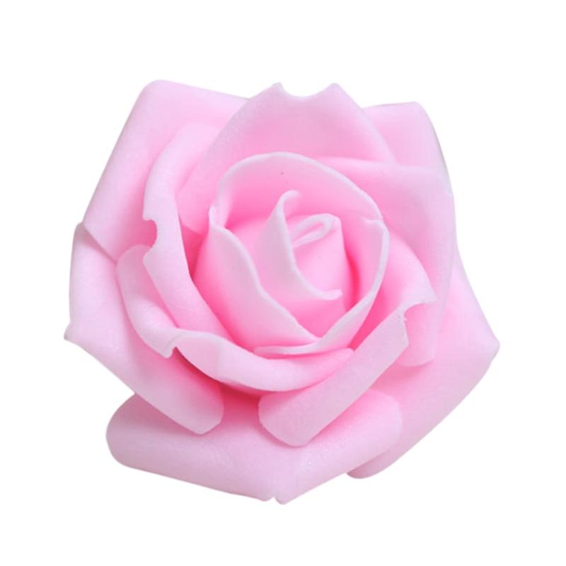 Bestselling 100PCS Skum Rose Blomsterknopper Bryllupsfest Dekorationer Kunstig Blomst Diy Craft Light Pink