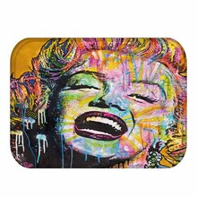 40x60cm 3D Colorful Marilyn Monroe Flannel Welcome Mat
