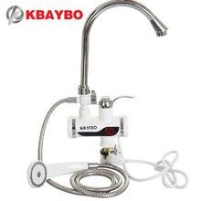3000 Вт мгновенный Электрический водонагреватель душ кран горячей кран Кухня водонагреватель