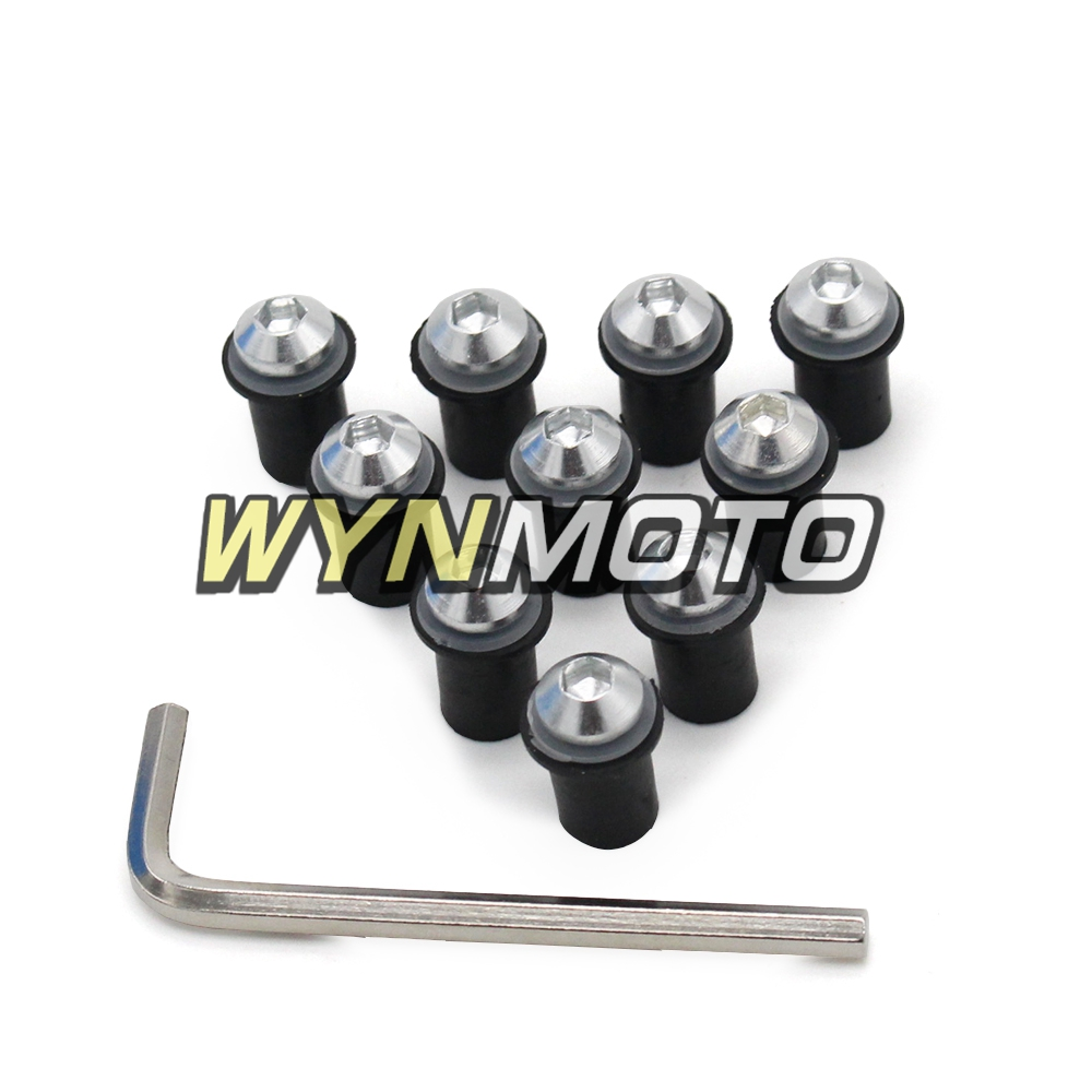 Motorcycle Windshield Bolts For <font><b>Suzuki</b></font> <font><b>GSXR</b></font> <font><b>600</b></font> 750 1000 2007 <font><b>2008</b></font> 2009 2010 2011 2012 2013 2014 2015 2016 Windscreen Screws image