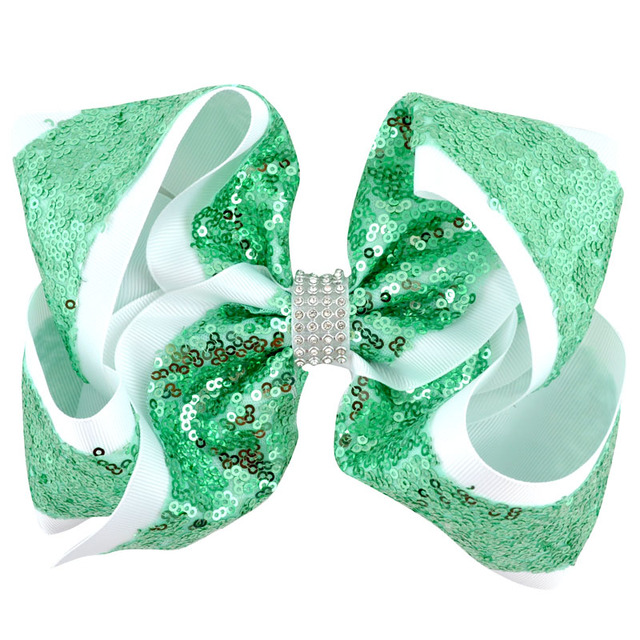 Girl's Sequin Large Hair Bow