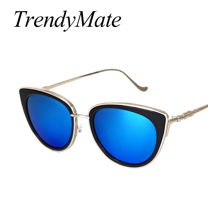 TrendyMate Retro Sexy Cat Eye Women Sunglasses Female Metal Frame Sunglasses Brand Designer Alloy Legs Glasses Oculos De Sol 711 4