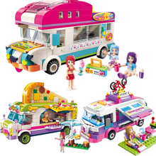 купить ENLIGHTEN City Girls Outing Bus Car Building Blocks Sets Bricks Model Kids Gift Toys Compatible Legoe Friends по цене 378.17 рублей