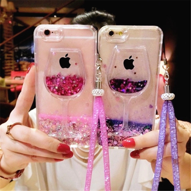 Good For Huawei Honor 7c 7a Pro 8 Lite 9 10 Fashion Bling Diamond Crown Phone Case Liquid Sand Quicksand Soft Back Cover With Lanyard Phone Bags & Cases
