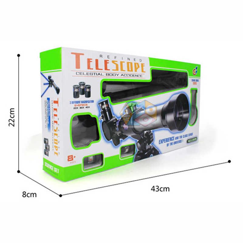 Telescópio astronômico monocular com tripé refrator spyglass zoom para iniciante espaço astronômico crianças presente