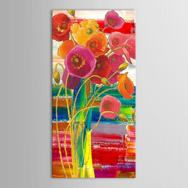 Hand Painted Modern Abstract Decorative Beautiful Flowers In Vase