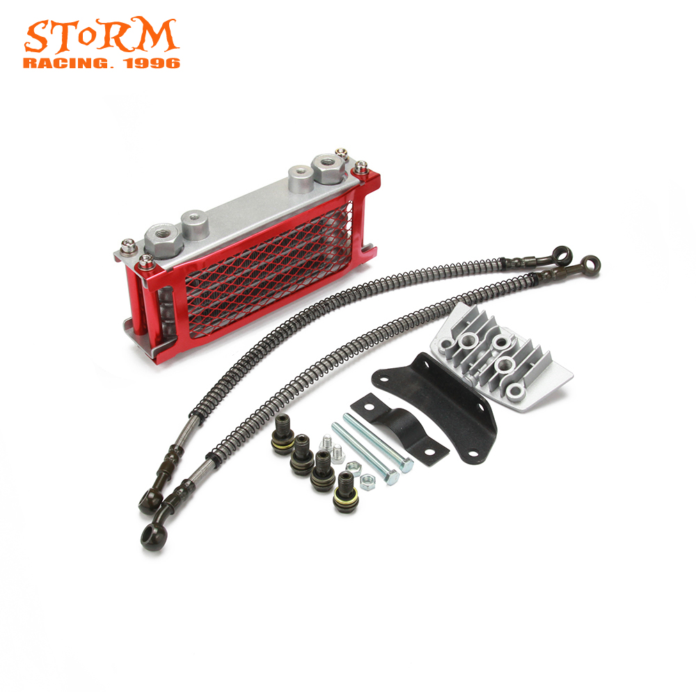 Motorcycle <font><b>Engine</b></font> Oil Cooler Radiator Bracket For Loncin Zongshen <font><b>Lifan</b></font> Shineray Yinxiang Kayo Bosuer Xmoto 50CC <font><b>70CC</b></font> 90CC 110CC image