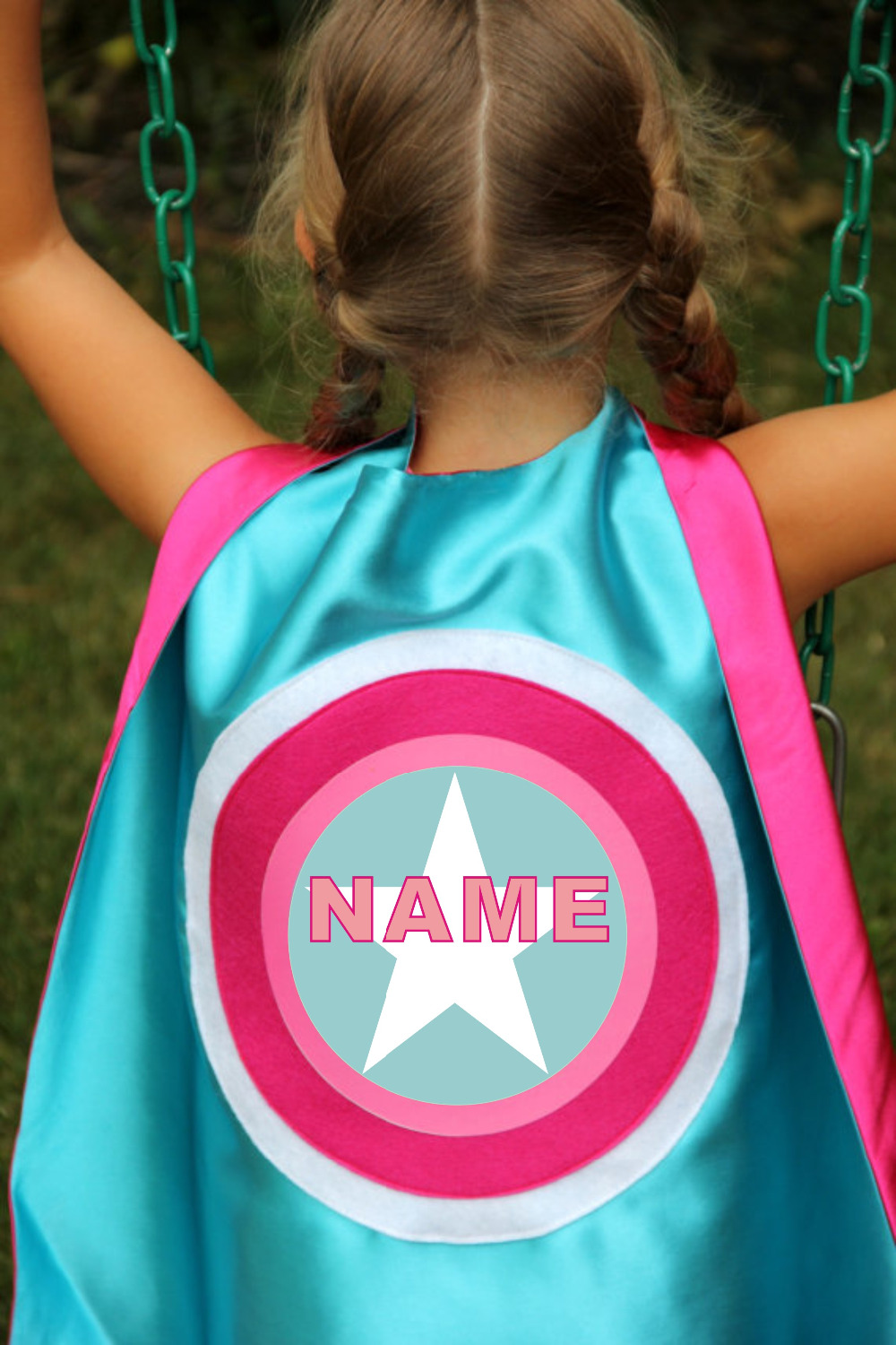 FULL NAME - Custom Boy bursdagsgave - Personlig Superhero Cape - Et - Kostymer - Bilde 2