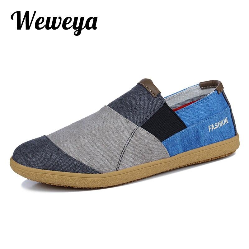 Mens Patchwork Canvas Shoes