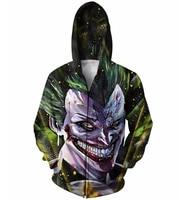Majin Joker Zip Up Hoodie Batman Dragonball Z Crossover The Joker Super Saiyan 3d Zipper Sweatshirts
