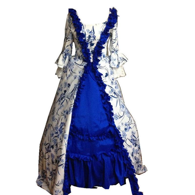 Sz Imprimer Robe Victorienne Xs Gothique Robes D 014 Us 6xl 6 Belle Vintage Civile Sirène guerre 26 Southern Halloween Trompette nx6B5x8wP