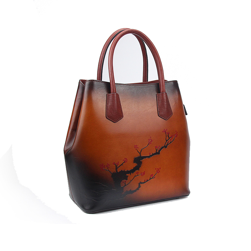 Large Tote Bags For Women Shoulder Handbags 2019 Vintage Handmade Cow Leather Sell Bags Ladies Hand Bag