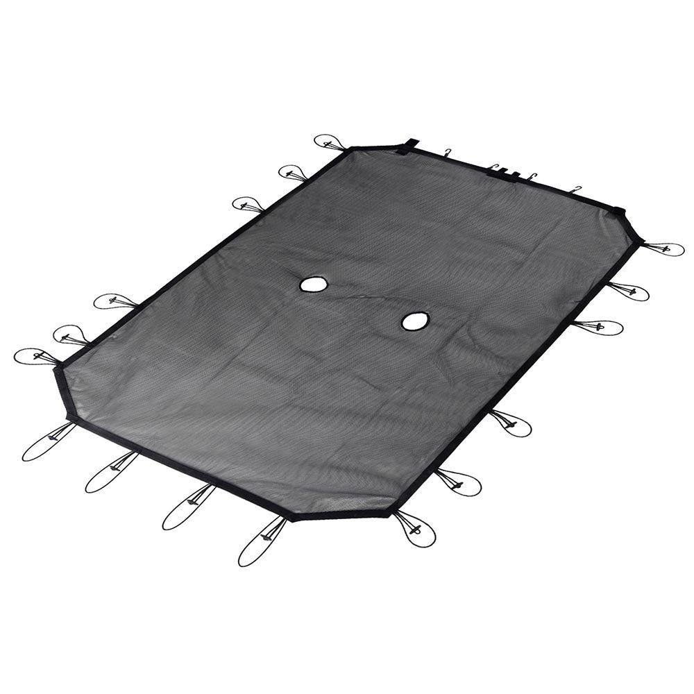 Mesh Shade Top Cover Provides UV Protection for 2007 2018 Jeep Wrangler 4 Door JKU JK Roof Sun Car Covers     - title=