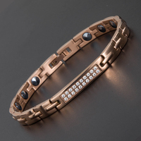 2017 New Style Full Rose Gold Plated Energy Health Bracelet 99 99 High Pure Germanium