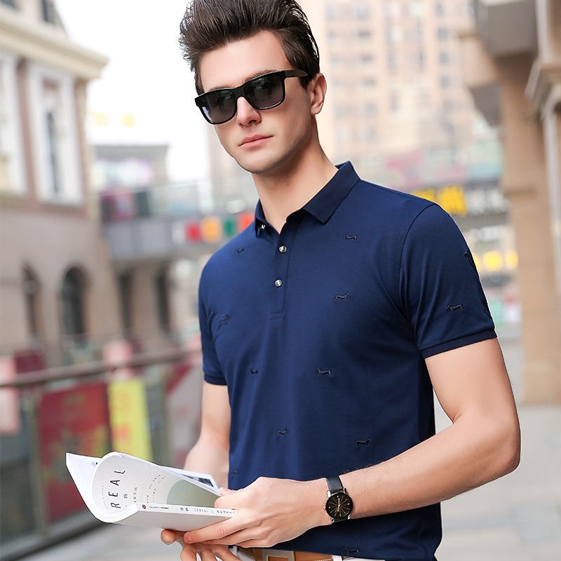 2019 New Fashion Brand   Polo   Shirts Men Solid Color Korean Summer Short Sleeve Slim Fit Cotton Poloshirt Casual Men Clothing