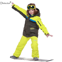 2016 New FREE SHIPPING Kids Boys Winter Clothing Set Skiing Jacket Pant Snow Suit 20 30