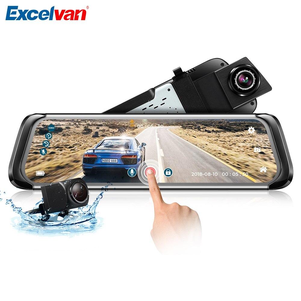F800 9.35 Inch Car DVR Rearview Mirror Dual Camera Car Dash Camera 1080P 140 Degree G-Sensor Loop Recording Driving Recorder plusobd car recorder rearview mirror camera hd dvr for bmw x1 e90 e91 e87 e84 car black box 1080p with g sensor loop recording