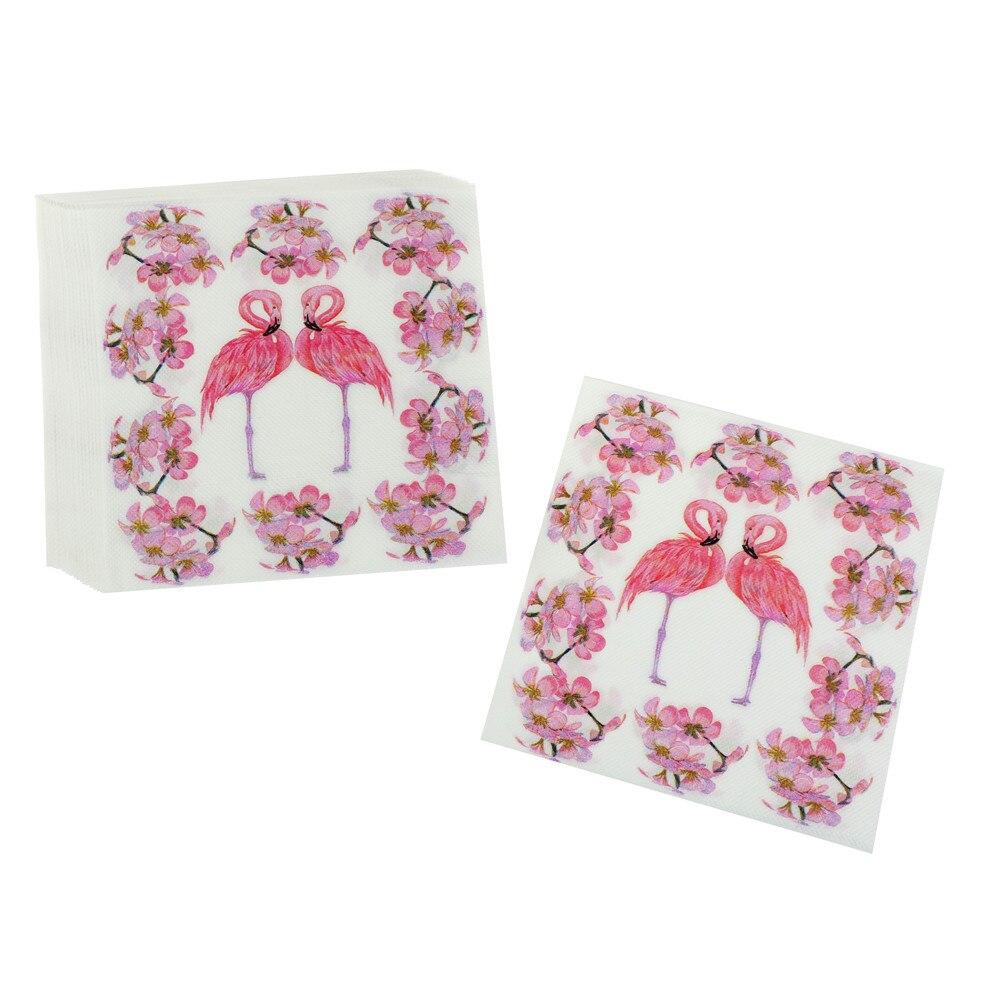 20 Stks/pak Kleurrijke Flamingo Print Papier Servet Restaurant Hotel Vakantie Partij Decoratie Papieren Handdoek Praktische Keuken Servet Modern En Elegant In Mode