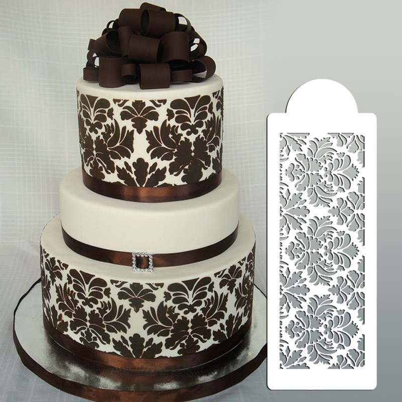 Buy wedding cake stencil cake border for Lace templates for cakes