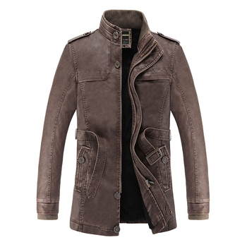 Nice Winter Leather Jacket Men Fax Fur Liner Slim Fit  Motercycle Jaqueta De Couro Masculino PU Leather Jacket Bomber Chaqueta