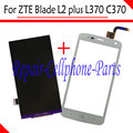 White 100% New LCD DIsplay + Touch Screen Digitizer Replacement For ZTE Blade L2 plus / Blade L370 / Blade C370 Free shipping
