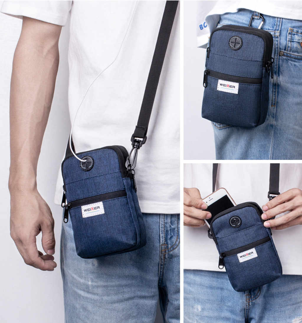 Men Oxford Phone Purse chest Bags Outdoor Sports Bag For Men Diagonal Mini Shoulder Multi-Function Mobile Phone Bags Handbag #5$