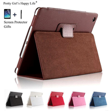 For Apple iPad Air 2 9.7 inch Case Flip Stand Leather Cover For Apple iPad Air 2 Tablet Capa Fundas Coque+Stylus