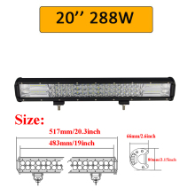 "Auxtings 5″ 14″ 17″ 20″ 23"" 3-Row LED Light Bar Offroad Led Bar Combo Beam Led Work Light Bar for Truck SUV ATV 4×4 4WD 12v 24V"