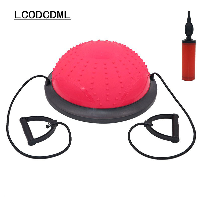 2018 new model High quality yoga ball body balance half ball fitness BOSU ball exercise gym ball Sport Fitball Proof yoga fitness half bosu balance yoga ball bo speed ball