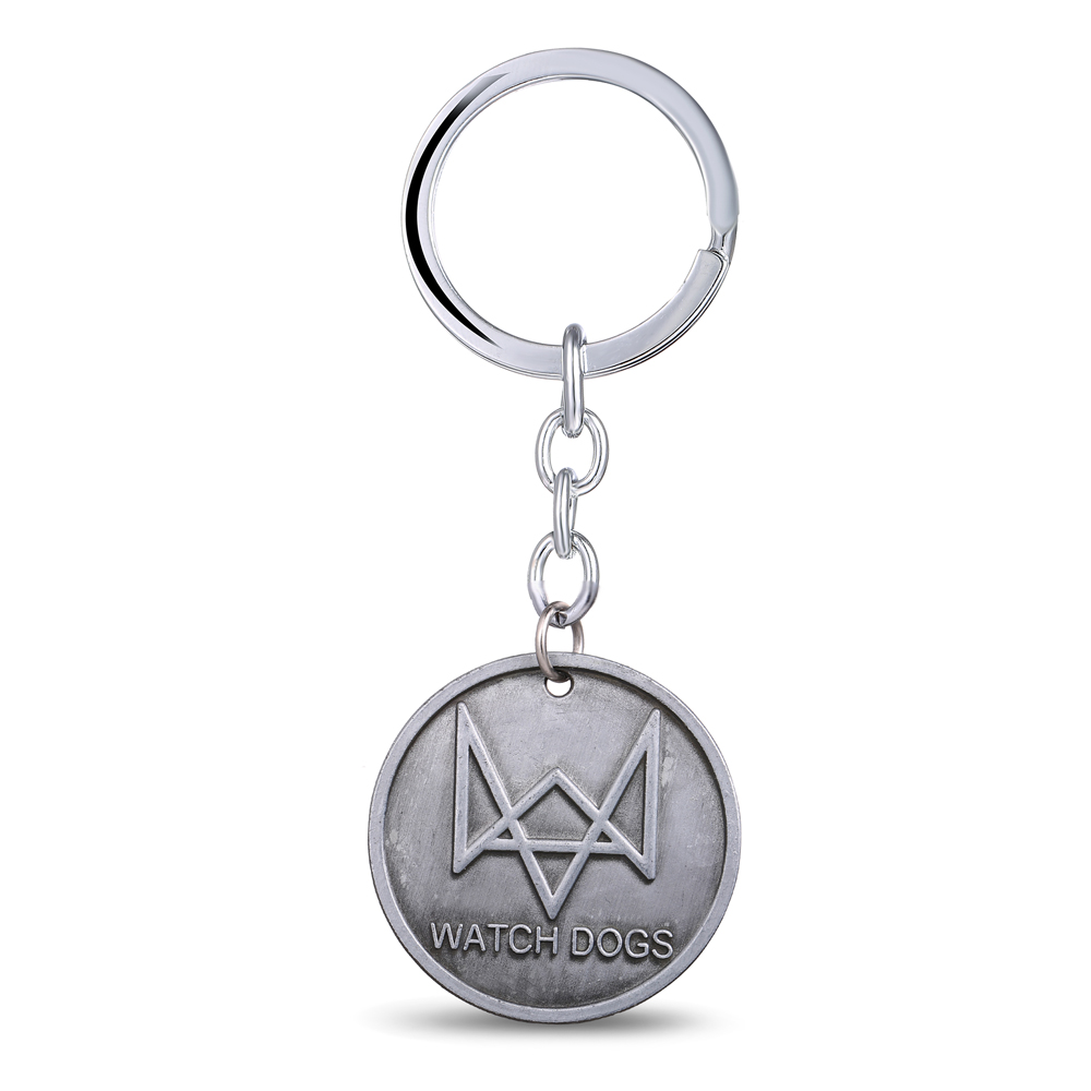 MS JEWELS Game Watch Dogs Keychain Metal Key Rings For Gift Chaveiro Key Chain Key Accessories