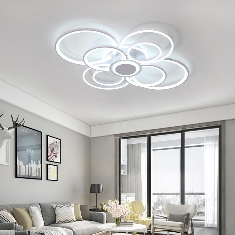 Achat Nouveau Blanc Moderne LED Plafonniers Salon chambre