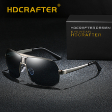 HDCRAFTER Sunglasses Men Polarized Pilot UV400 Driving Sun Glasses For Male Brand Design Retro Sunglasses Classic Eyewear Gafas hdcrafter high quality polarized sun glasses women pilot aviador sunglasses men brand designer uv400 eyewear with case oculos
