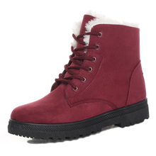 Женские сапоги, новинка 2018, женские зимние сапоги, теплые зимние сапоги, модные женские ботильоны, зимняя повседневная обувь на каблуке, Botas Mujer