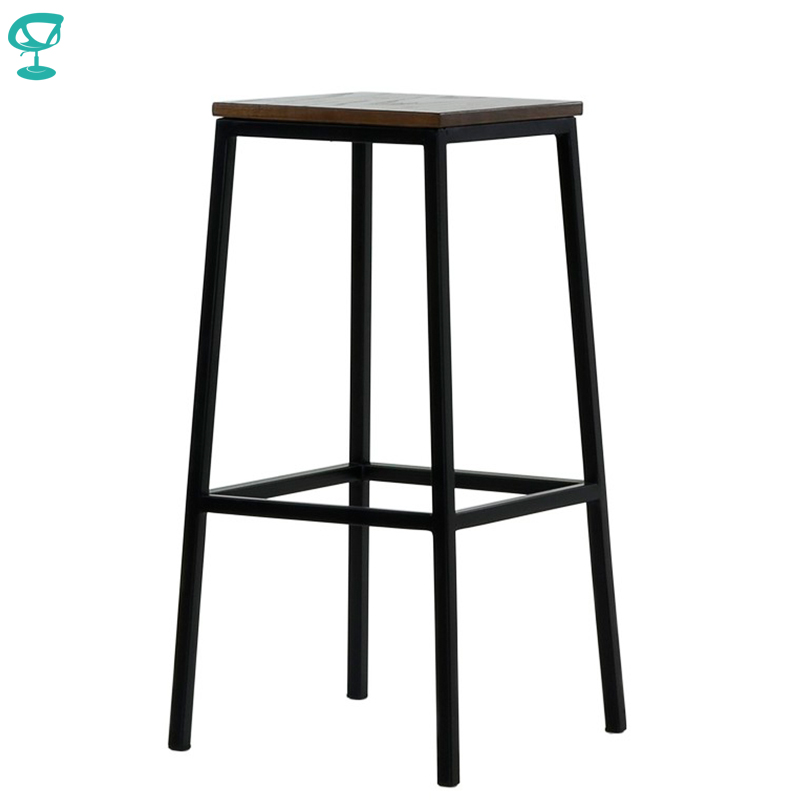 95377 Barneo N-301 High Metal Wood Kitchen Breakfast Interior Stool Bar Chair Kitchen Furniture Black Free Shipping In Russia